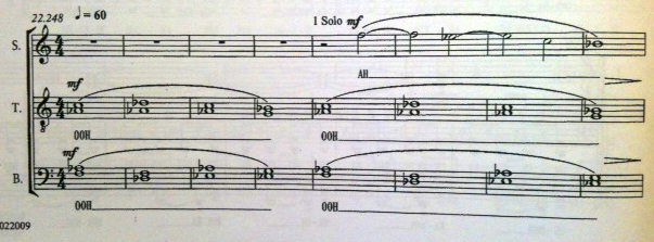 Der Anfang des Solos