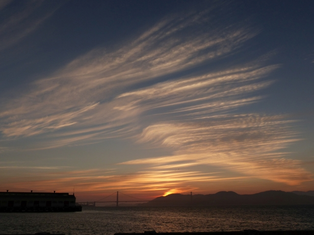 Sunset in SF_6
