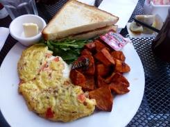Mein letztes Frühstück in den USA...