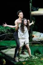 Kit Young (Lysander) and Isis Hainsworth (Hermia)